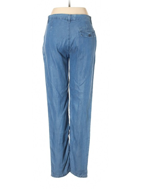 Mango Jeans Lyocell Tapered Skinny Pants Blue Image 1