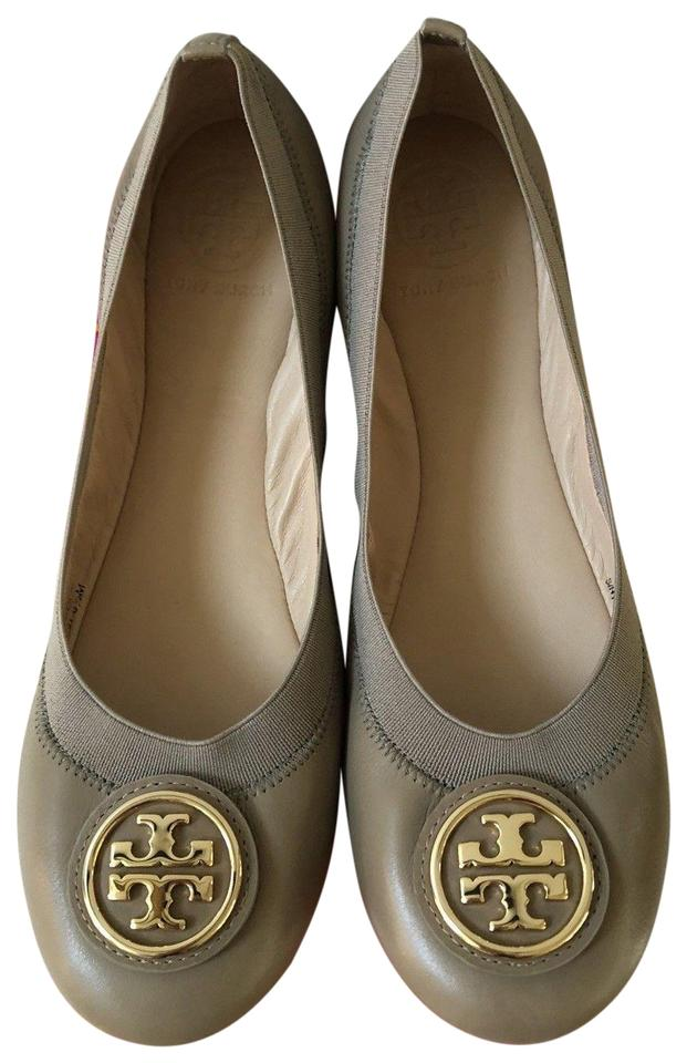 012d195fc2d Tory Burch Gray Caroline 2 French Leather Gold Reva Nellie Ballet ...