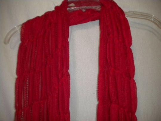 Unbranded Women Red Scarf Image 1