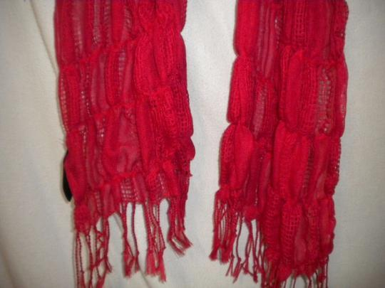 Unbranded Women Red Scarf Image 2