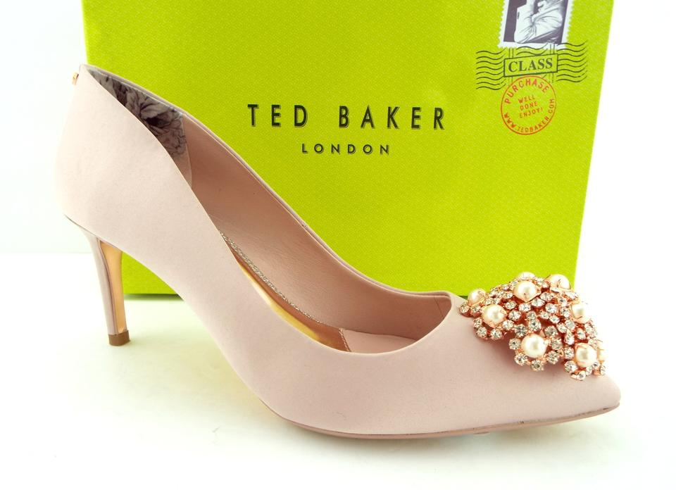 5ccc9477a6f1 Ted Baker Light Pink Pearl and Crystal Jeweled Pumps Size EU 37.5 (Approx.  US 7.5) Regular (M