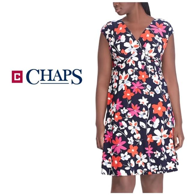 Preload https://img-static.tradesy.com/item/24744028/chaps-blue-multi-color-floral-empire-faux-wrap-14w-mid-length-workoffice-dress-size-16-xl-plus-0x-0-0-650-650.jpg