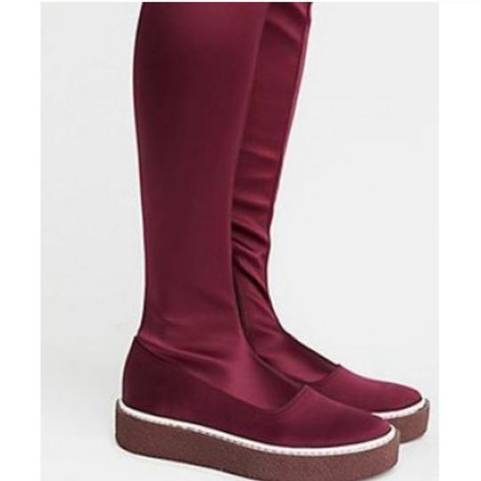 Free People Red Platform Thigh High Boots Image 2
