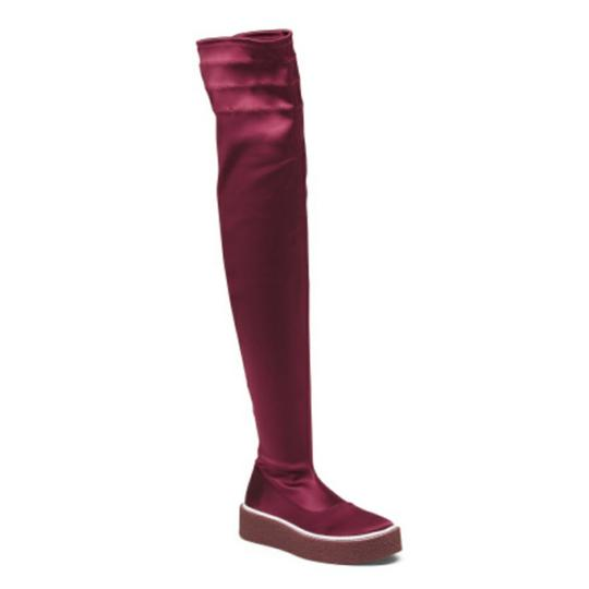 Free People Red Platform Thigh High Boots Image 3