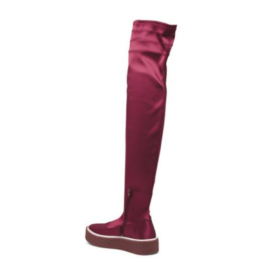 Free People Red Platform Thigh High Boots Image 4