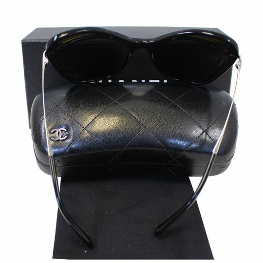 Chanel CHANEL Butterfly Runway Sunglasses Black Image 6