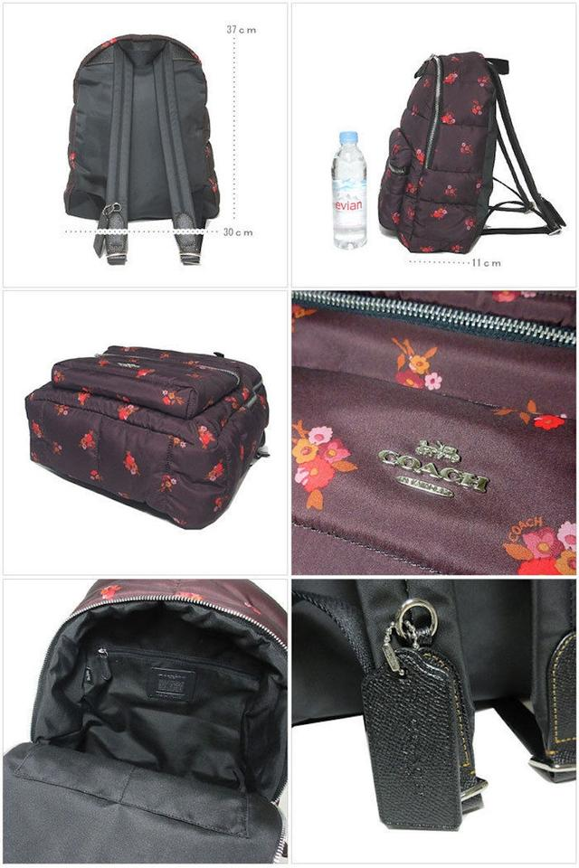 df1ed9bc Coach New Women's (F30667) Floral Puffer Quilted Charlie Oxblood Nylon  Backpack 57% off retail