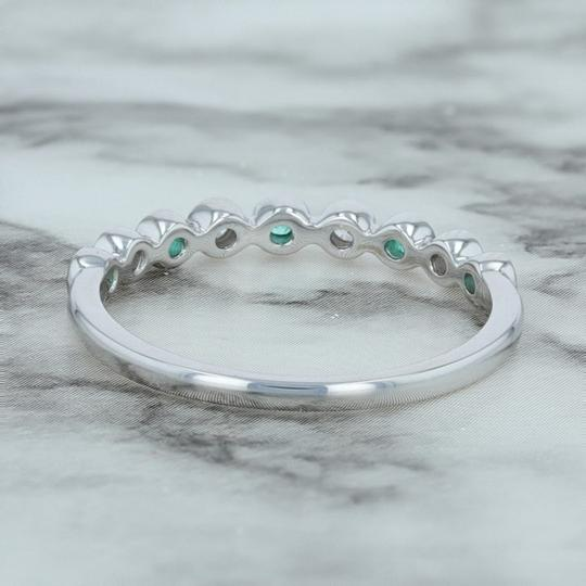 Other .19ctw Diamond & Emerald Ring - 14k Size 7 Bezel Stackable Image 2