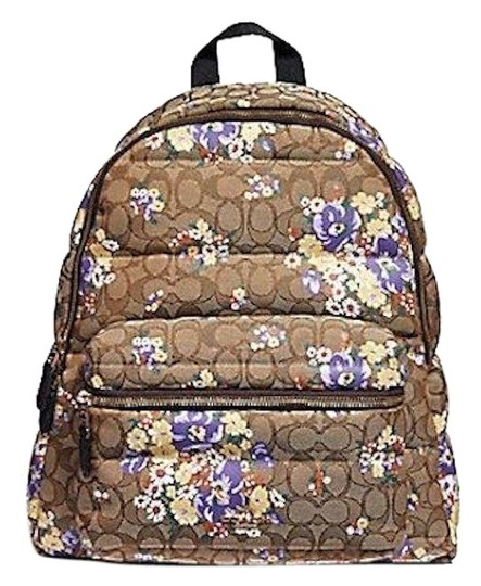 Preload https://img-static.tradesy.com/item/24744191/coach-new-womens-f31915-signature-floral-quilted-charlie-brown-nylon-backpack-0-1-540-540.jpg
