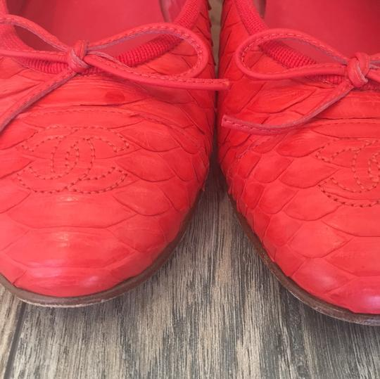 Chanel coral red Flats Image 1