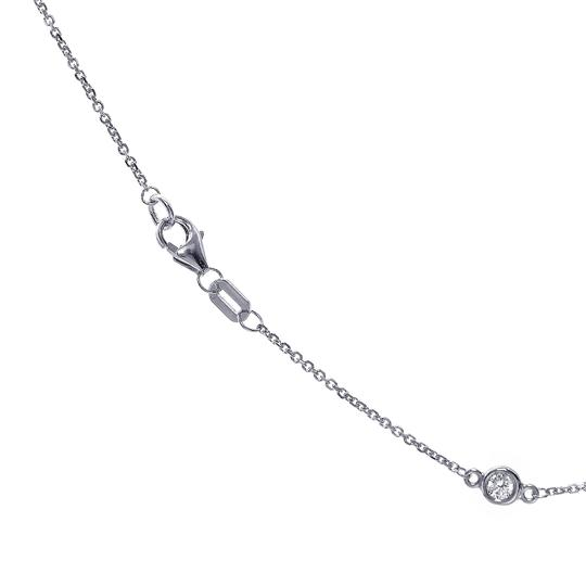 Avital & Co Jewelry 0.70 Carat Round Diamonds By The Yard Necklace In 14K White Gold Image 3