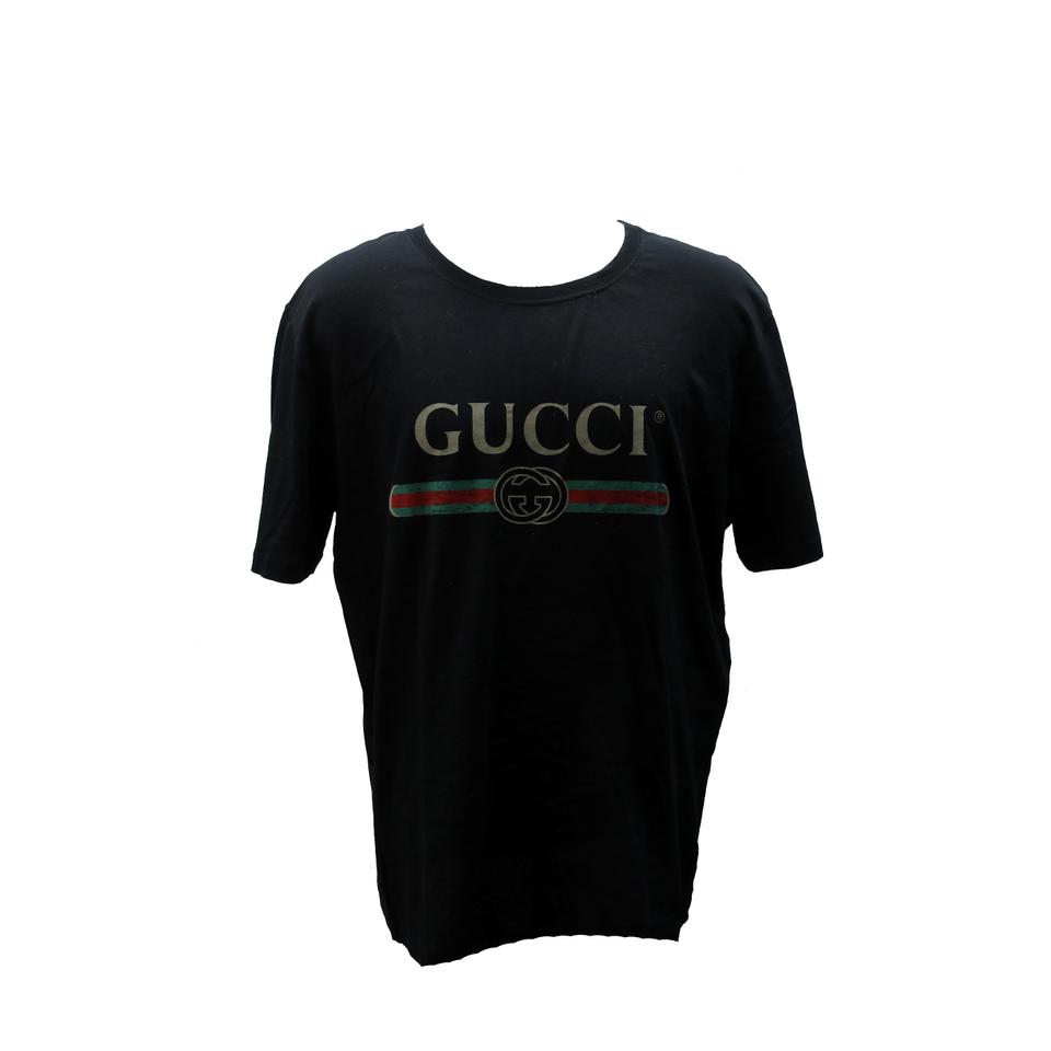 41d1d3b673a Gucci Black Oversize Washed T-shirt with Classic Gg Print Logo Size Xxl  Shirt Image ...