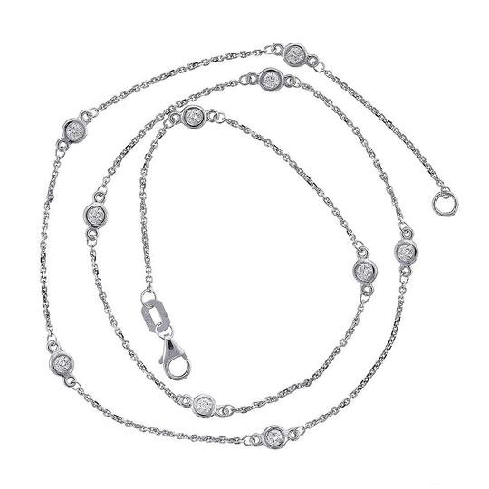 Avital & Co Jewelry 0.70 Carat Round Diamonds By The Yard Necklace In 14K White Gold Image 1