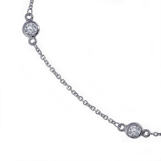 Avital & Co Jewelry 0.70 Carat Round Diamonds By The Yard Necklace In 14K White Gold Image 2