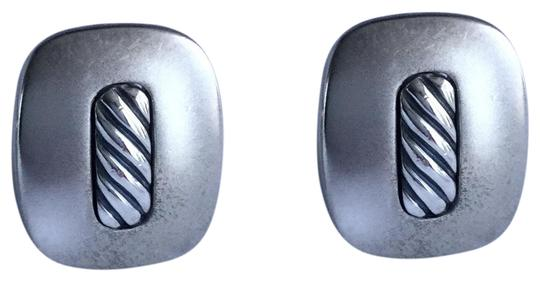David Yurman STERLING SILVER TWISTED ROPE CUFFLINKS Image 0