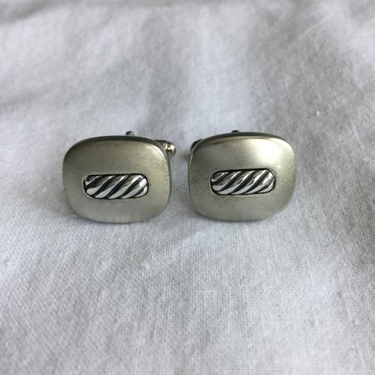 David Yurman STERLING SILVER TWISTED ROPE CUFFLINKS Image 1