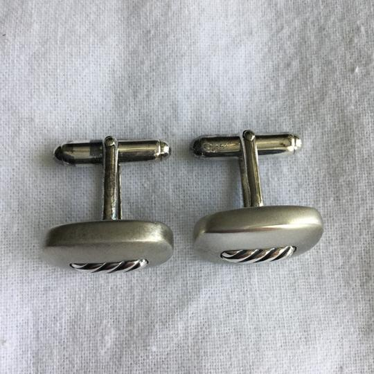 David Yurman STERLING SILVER TWISTED ROPE CUFFLINKS Image 2