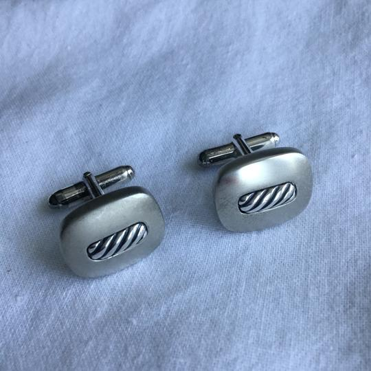 David Yurman STERLING SILVER TWISTED ROPE CUFFLINKS Image 3