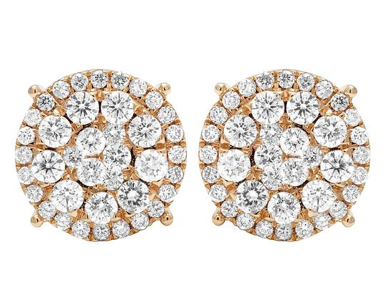 Preload https://img-static.tradesy.com/item/24744380/jewelry-unlimited-rose-gold-14k-real-diamond-cluster-studs-ct-12mm-earrings-0-1-540-540.jpg