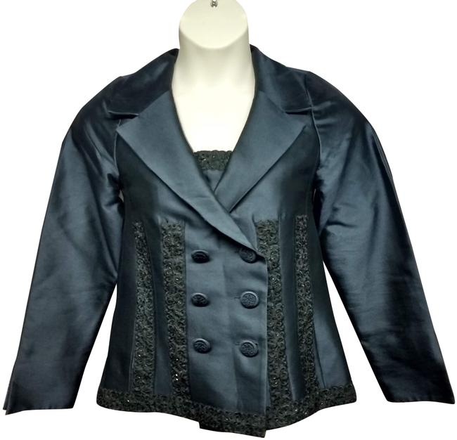 Preload https://img-static.tradesy.com/item/24744458/navy-embellished-black-lace-trim-jacket-m-blazer-size-10-m-0-4-650-650.jpg