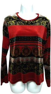 White Stag Top Red/Black/Gold