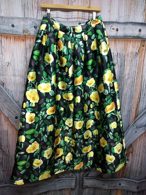 COMME Maxi Skirt GREEN/YELLOW Image 2