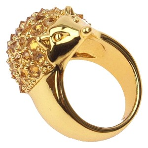 kate spade Brand New Kate Spade Into the Woods Hedgehog Cocktail Ring Size 7 Gold
