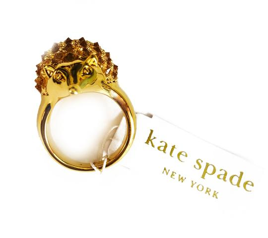 kate spade Brand New Kate Spade Into the Woods Hedgehog Cocktail Ring Size 7 Gold Image 1