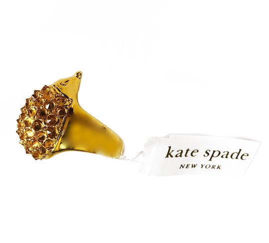kate spade Brand New Kate Spade Into the Woods Hedgehog Cocktail Ring Size 7 Gold Image 2