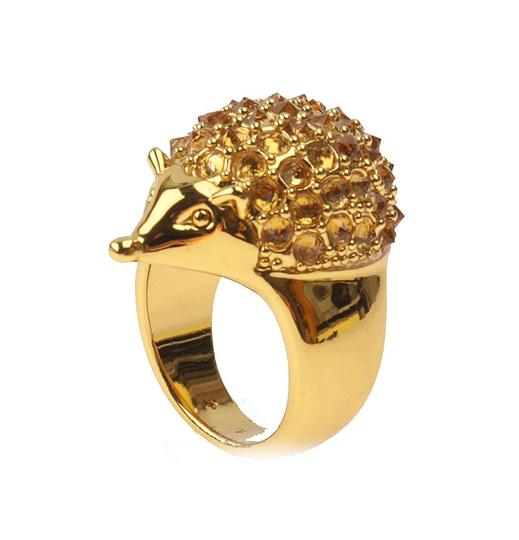 kate spade Brand New Kate Spade Into the Woods Hedgehog Cocktail Ring Size 7 Gold Image 4