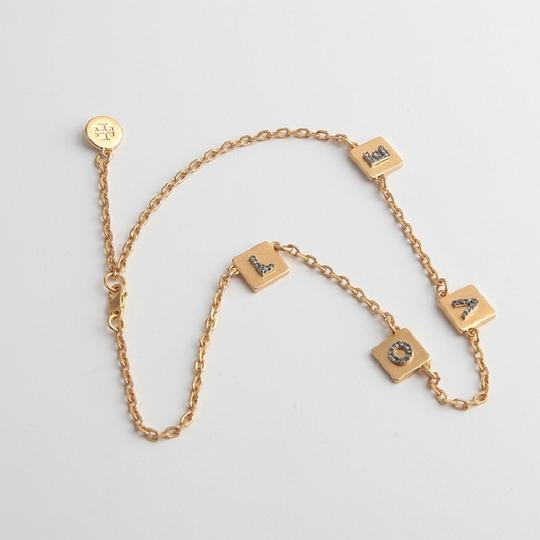 Tory Burch Brand New Tory Burch LOVE Message Delicate Necklace Choker Image 1