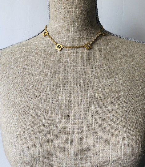 Tory Burch Brand New Tory Burch LOVE Message Delicate Necklace Choker Image 10