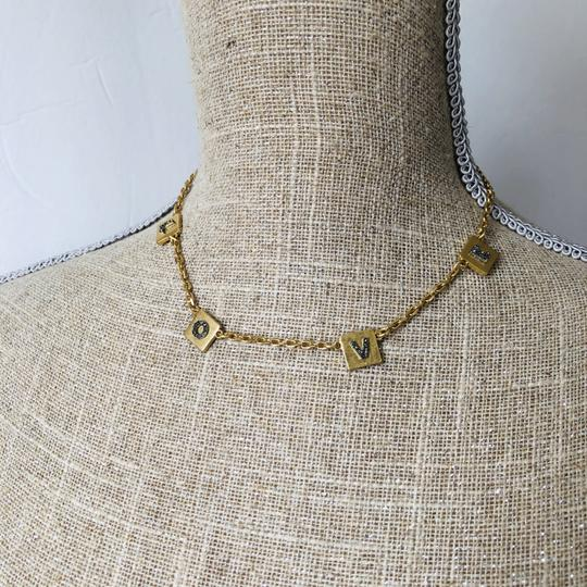 Tory Burch Brand New Tory Burch LOVE Message Delicate Necklace Choker Image 11