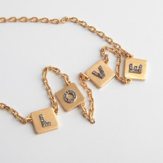 Tory Burch Brand New Tory Burch LOVE Message Delicate Necklace Choker Image 3