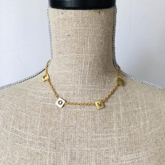 Tory Burch Brand New Tory Burch LOVE Message Delicate Necklace Choker Image 5