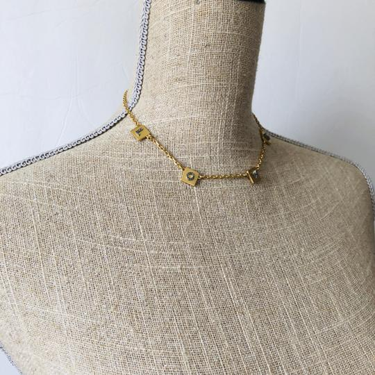 Tory Burch Brand New Tory Burch LOVE Message Delicate Necklace Choker Image 6