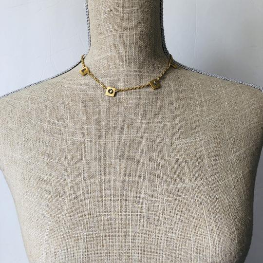 Tory Burch Brand New Tory Burch LOVE Message Delicate Necklace Choker Image 8