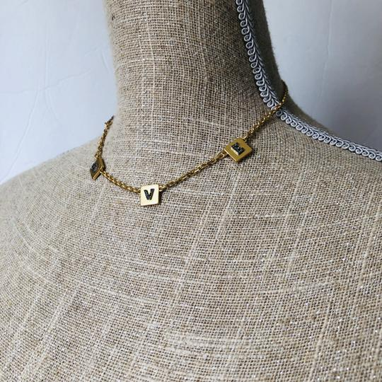 Tory Burch Brand New Tory Burch LOVE Message Delicate Necklace Choker Image 9