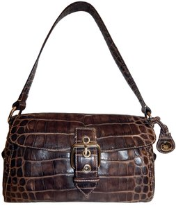 Dooney & Bourke Nile Croc Leather Flap Shoulder Bag