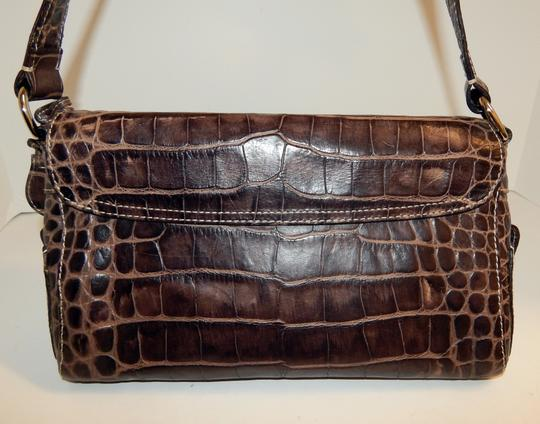 Dooney & Bourke Nile Croc Leather Flap Shoulder Bag Image 4