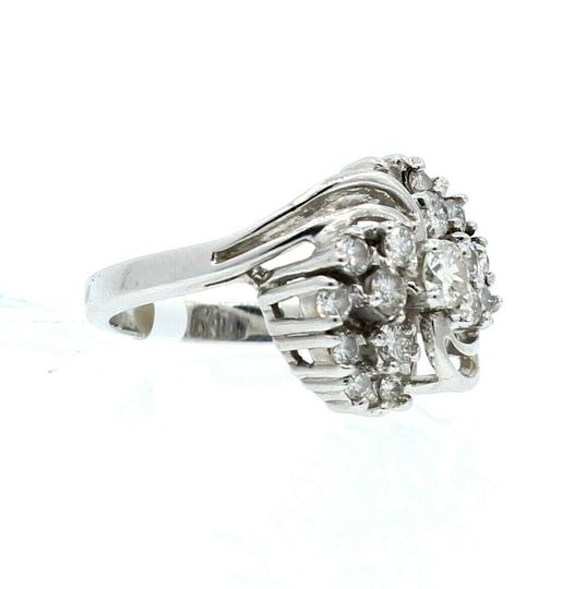 Other 14K WHITE GOLD 1.0ct DIAMOND CLUSTER LADIES RING SIZE 5.5 Image 1