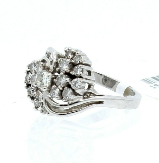 Other 14K WHITE GOLD 1.0ct DIAMOND CLUSTER LADIES RING SIZE 5.5 Image 2