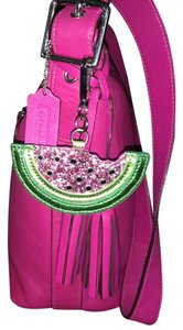 unknown Large Watermelon Glitter Sparkle Purse Charm Hang Tag for Handbag