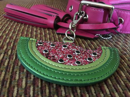 unknown Large Watermelon Glitter Sparkle Purse Charm Hang Tag for Handbag Image 1