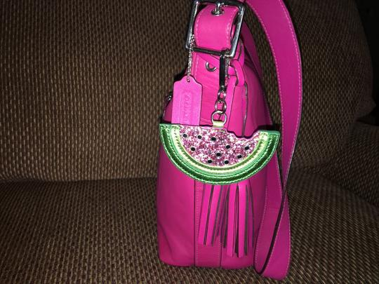 unknown Large Watermelon Glitter Sparkle Purse Charm Hang Tag for Handbag Image 3