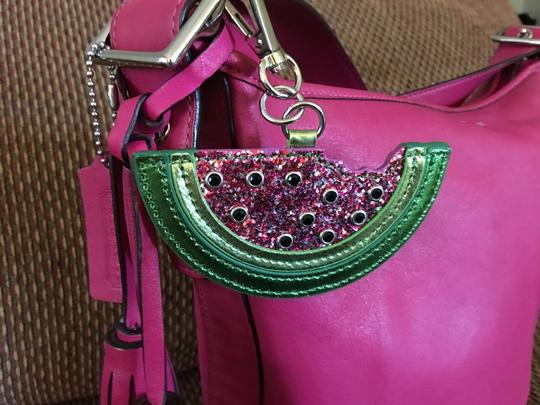 unknown Large Watermelon Glitter Sparkle Purse Charm Hang Tag for Handbag Image 4