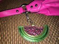 unknown Large Watermelon Glitter Sparkle Purse Charm Hang Tag for Handbag Image 5
