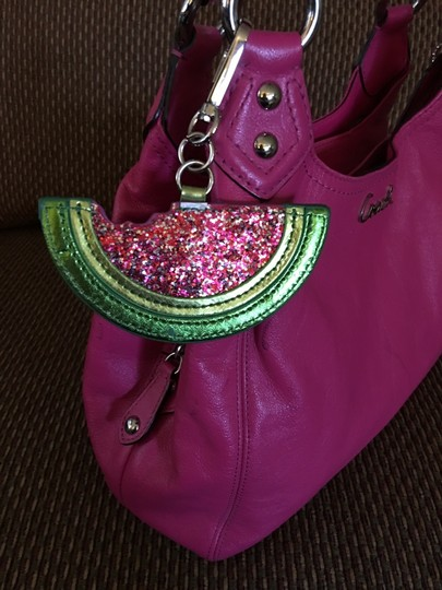unknown Large Watermelon Glitter Sparkle Purse Charm Hang Tag for Handbag Image 6