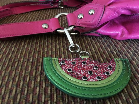 unknown Large Watermelon Glitter Sparkle Purse Charm Hang Tag for Handbag Image 8
