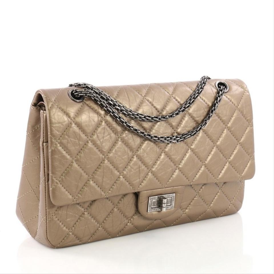 68d27e9c64bc Chanel 2.55 Reissue Handbag Quilted Metallic Aged 227 Brown Calfskin  Leather Shoulder Bag 66% off retail
